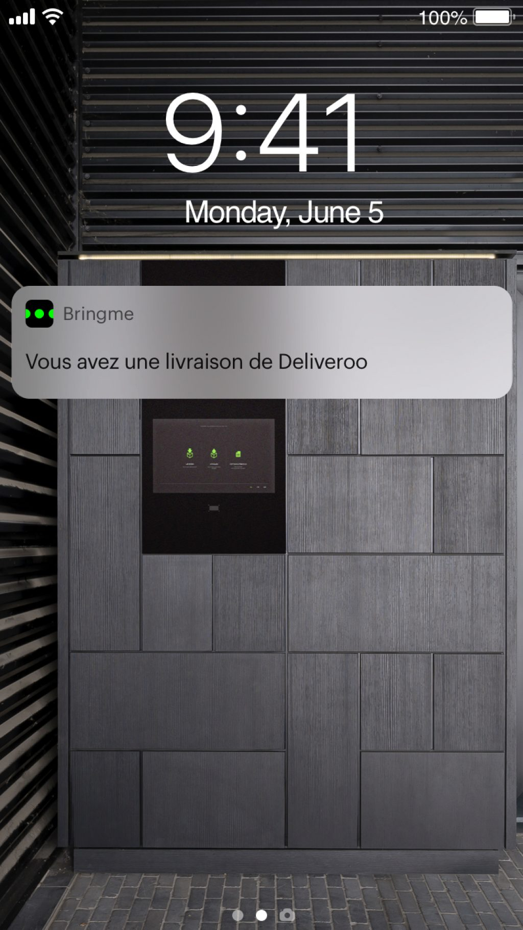 Lock Screen Notification Deliveroo FR