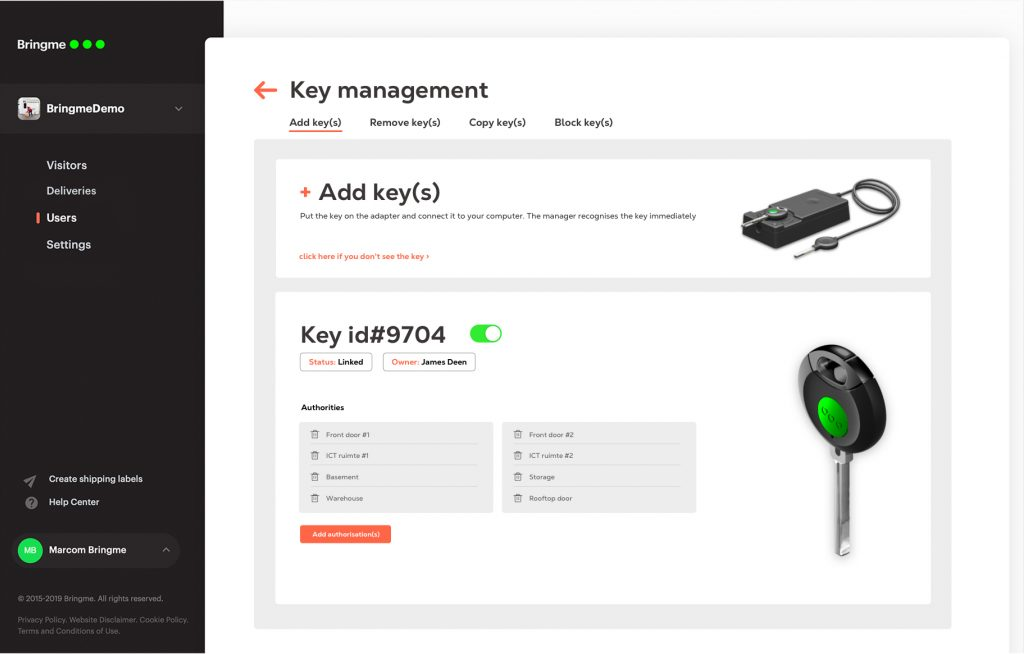 Manager interface key ENG
