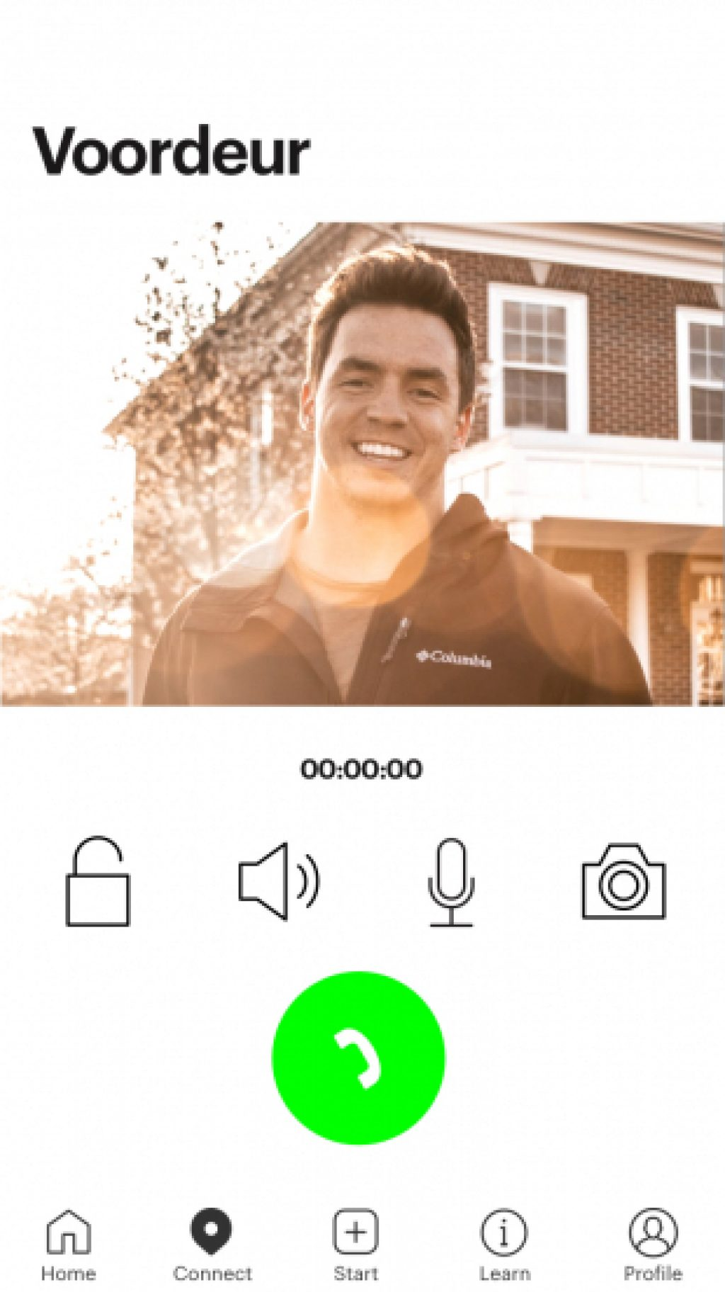 Product App iOS Bringme Bell Residential Call answer screen NL